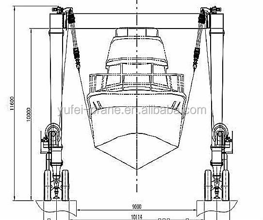 china travel lift crane shipyard crane mobile boat hoist