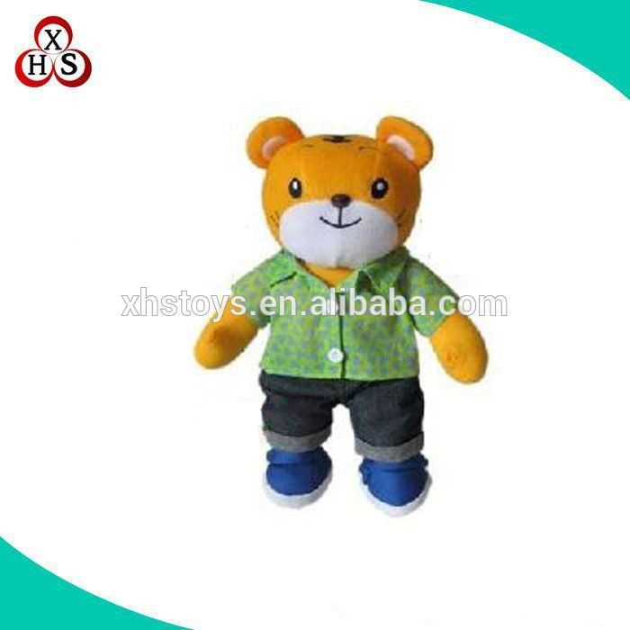 OEM Cute different design plush cartoon tiger names/baby plush tiger toys wholesale