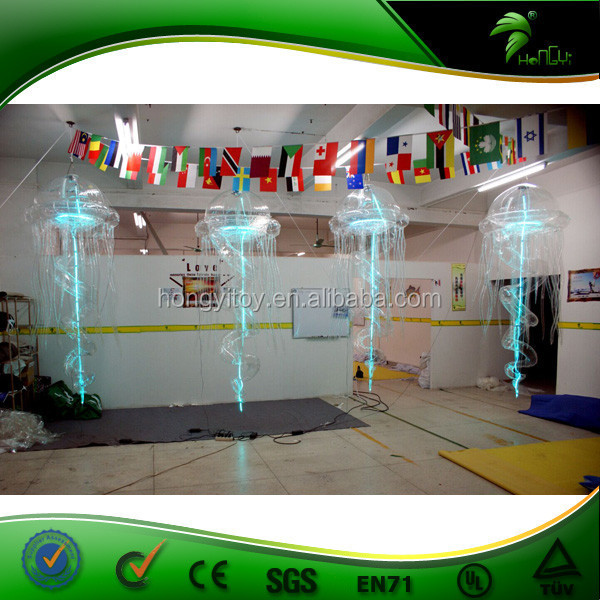 Advertising Inflatable LED Light Transparent Jelly Fish,Decorative Inflatable LED Light