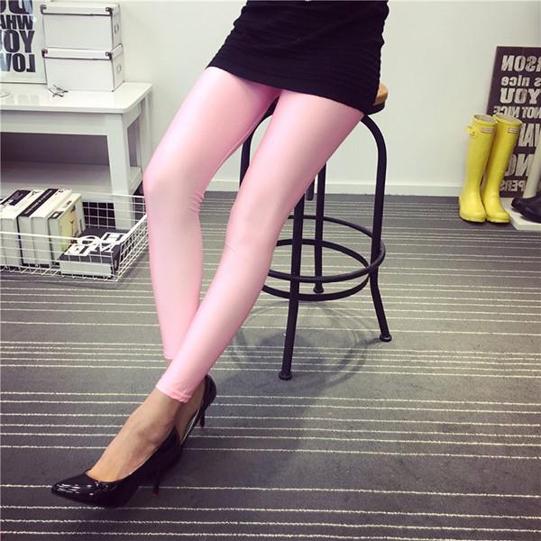 483cc488ea970 Shiny Spandex Pink Satin Leggings - Buy Pink Leggings,Satin Leggings ...