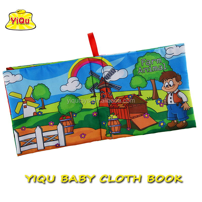 Hot Selling Baby Fabric Activity Book Soft Cloth Learning Activity ...