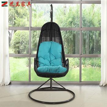 Outdoor Garden Rattan Hanging Indoor Basket Free Standing Pod Chair Swing  Chair