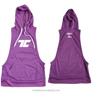 fe58ba99b Fitness Mens Stringer Hoodies Dry fit Stringer Tank Top Muscle Bodybuilding  Sports Hoodie Deep Cut Gym