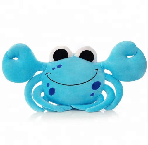 plush sea animal crab kids toy with bread /mix size plush crab with bread toy