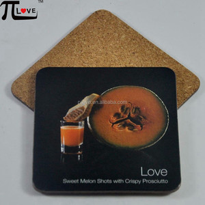 Newest style fashionable anti-slip heat resistance wooden cork coaster