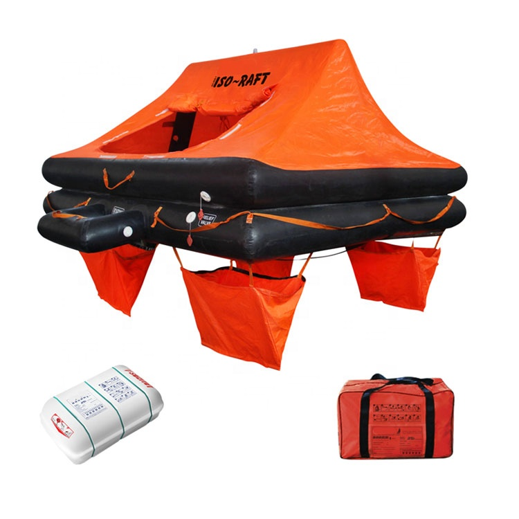ISO9650-1 4 person Leisure Liferaft Yacht Life Raft with valise or canister