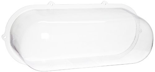Morris Products 73091 Polycarbonate Vandal/Environmental Shield Guard Exit and Emergency Light, 18.7 Width, 6.5 Depth, Used With Emergency Lights (2)