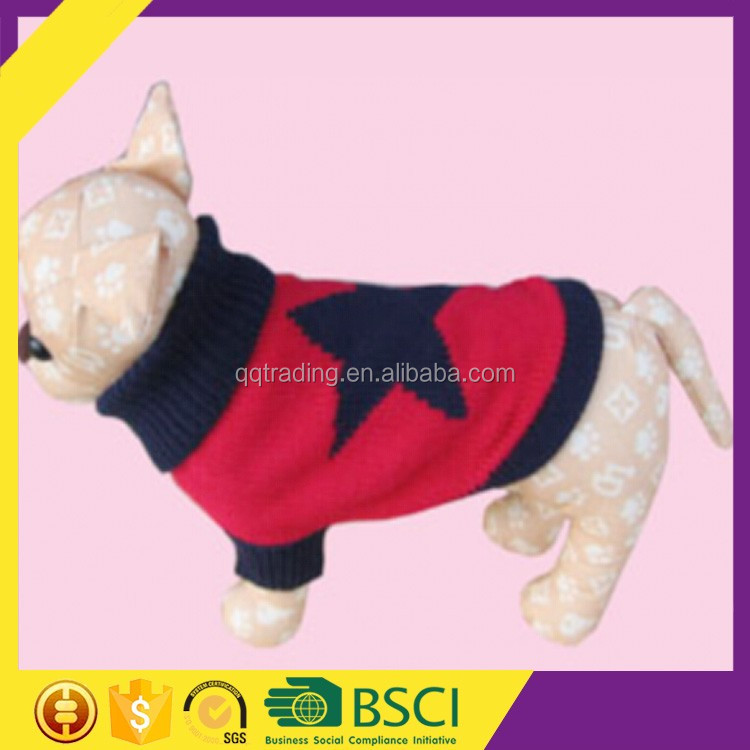 Comfortable warm style 7GG cable knitted excellent yarn pullover dog sweater