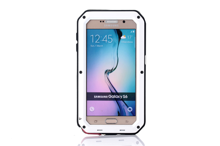 Heavy Duty Protection Case for Samsung S6 Cover Metal Aluminum Shockproof Armor Phone Cases