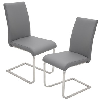 grey leather chrome dining chair buy grey leather chrome dining