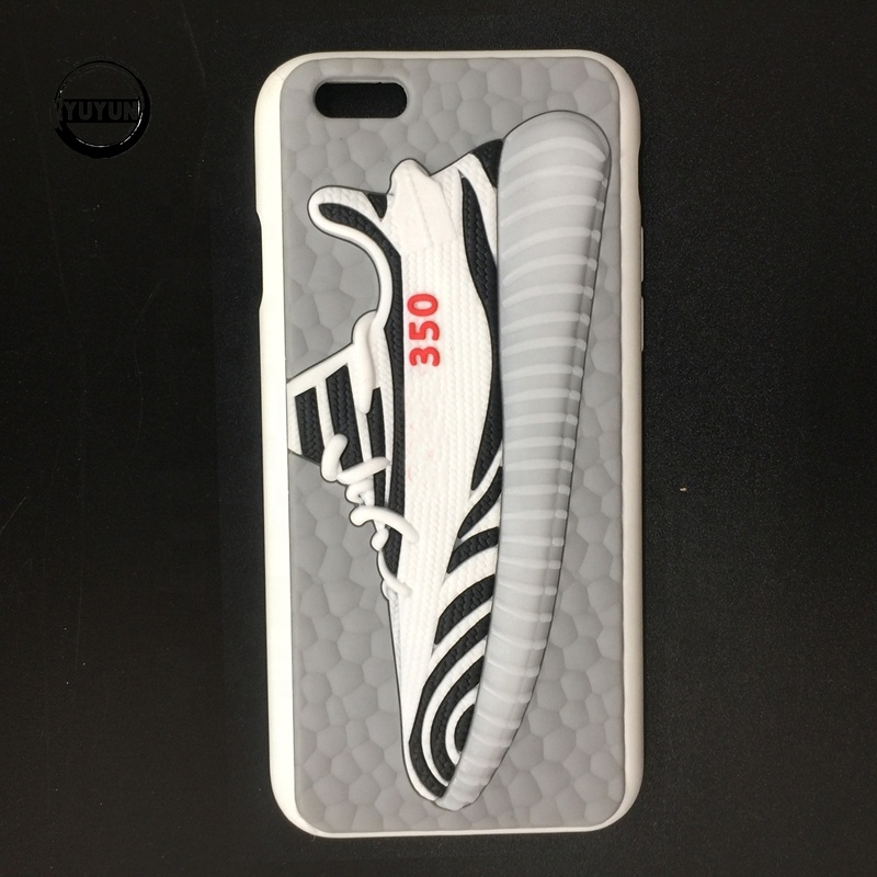 hot selling 3D yeezi 350 Basketball Shoes Soft TPU Silicon Phone <strong>Case</strong>