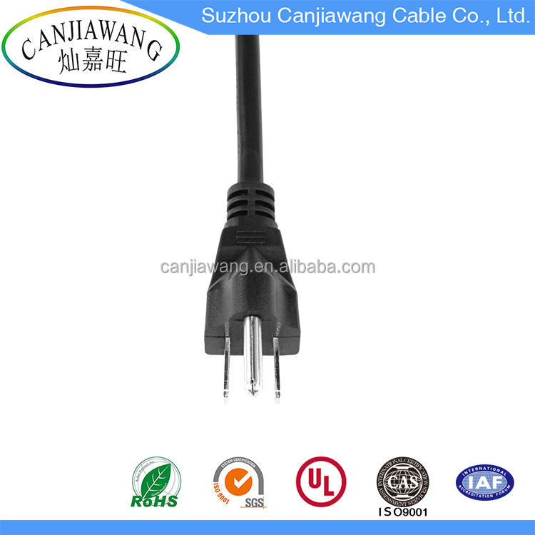 NEMA 5-15 Plug 3 Pin Plug Top to IEC C5 Power Cord Plug