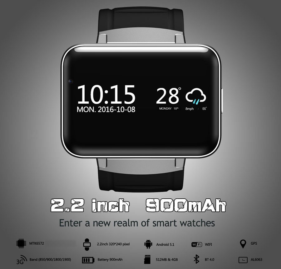 Top professional S622 new design smartwatch Android os V5.1system