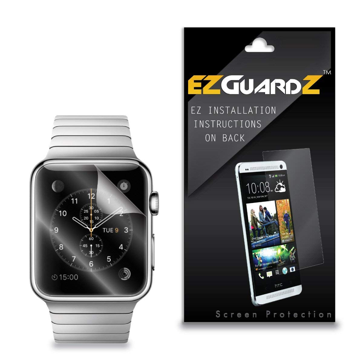 (3-Pack) EZGuardZ Screen Protector for Apple Watch 42mm (Ultra Clear)