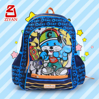 5ca2d25e49 2016 Polyester Cool Cat Cute Cartoon character school bags backpack for back  to school