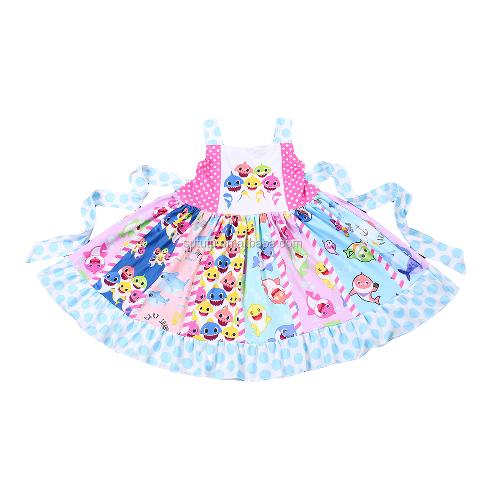 NO MOQ Stock Ready To Ship Pretty Kids  Girl High Quality Boutique Clothing Fashion Baby Girl Cute Children Girls Princess Dress