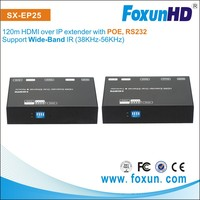 1080p 120m POE extender over Ethernet cable,Powerline RS232 HDMI Extender
