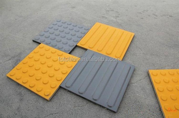 Giallo grigio tattile tattile piastrelle per la pavimentazione