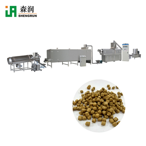 Automatic Extruded Dry Fish Feed Dog Food Animal Fodder Equipment Extruder