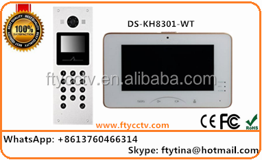 2017 Wholesale Hikvision DS-KH8301-WT 7 Inch Video Intercom China