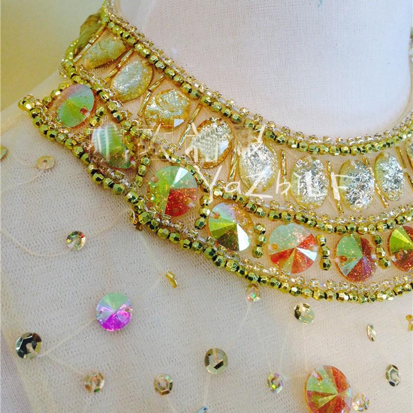 5d5710b6f Brillante diamante de color sirena vestido de noche 2016 Cristal de todo el cuerpo  sexy evening