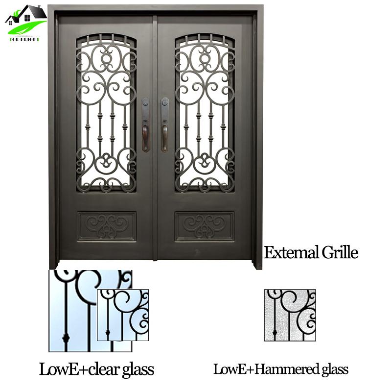 заводская цена простые современные конструкции гриль окно защитные кованые железные двери Buy дверь безопасностистальные двери безопасностицена
