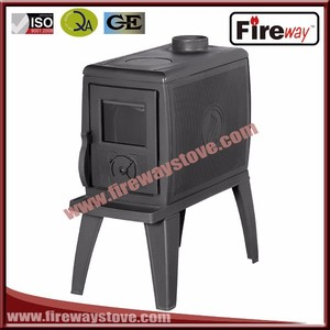 Own brand Fireway wood crate packed cast iron wood burning stove