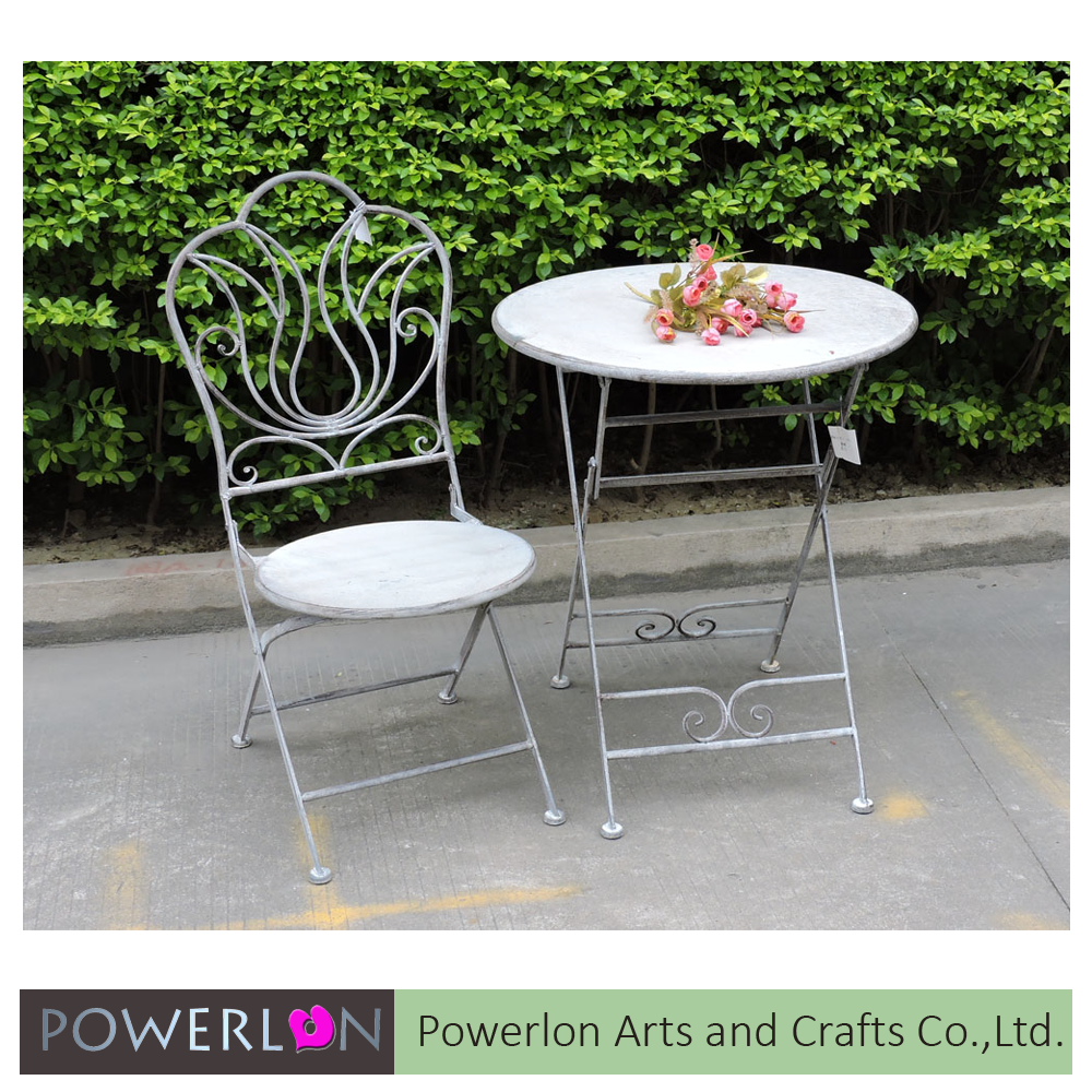 Hot outdoor wrought iron garden furniture sale for coffee shop