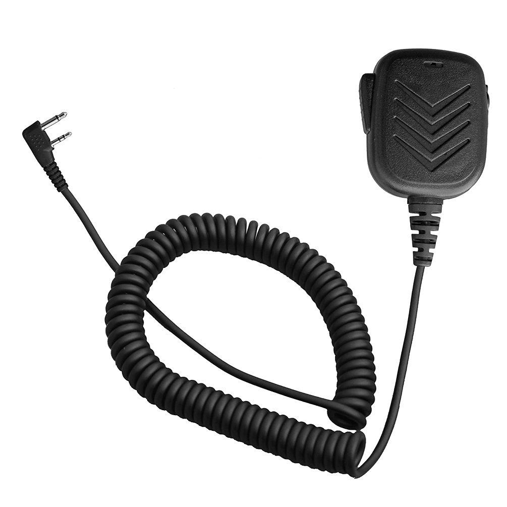 Arama A600I01 Rainproof Lightweight Handheld Shoulder Speaker Mic with PTT for 2 Pin Icom Two Way Radio IC- F3G F4G F11 F11S F14 F14S F21 F21S F24 F24S