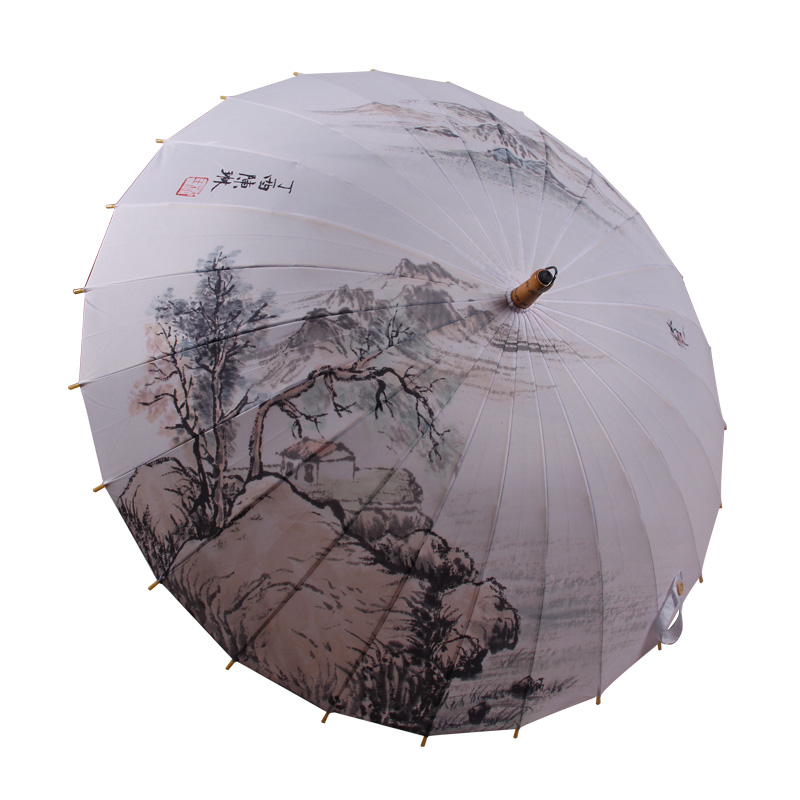 umbrella oil painting
