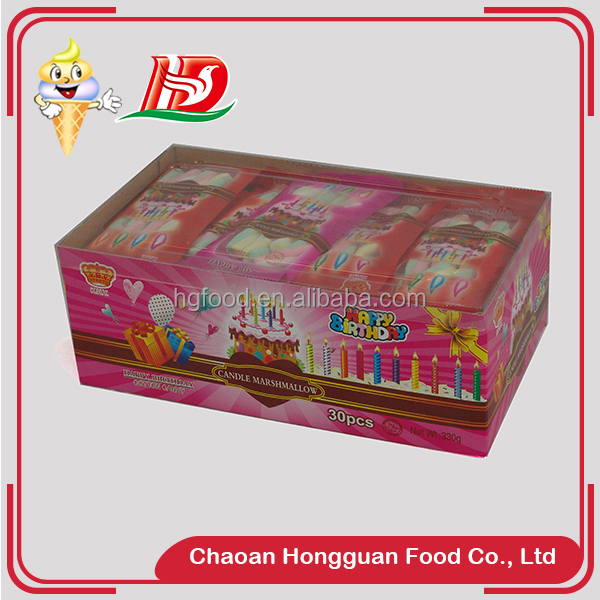 New fashion twist marshmallow boxed sweet snack valentine's day candy