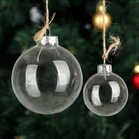 Wedding Bauble Ornaments Christmas Xmas Glass Balls Decoration 80mm Christmas Balls Clear Glass Wedding balls Christmas Ornament
