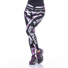 Sublimated Printing top quality compression camouflage pink yoga leggings with custom logo