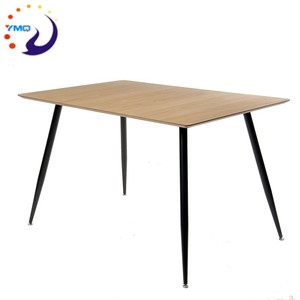 4 seater design oak veneer small dining table