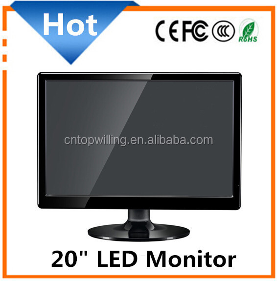20 inch widescreen lcd led computer monitor with vga dvi AV TV Port