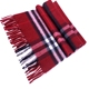 plaid cashmere scarf for men and women