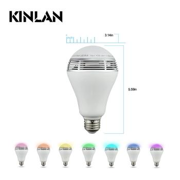 Colorful LED Light Speakers Bluetooth Speaker Wireless Music Player Kinlan
