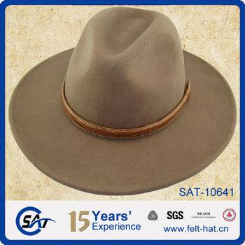 4063b49833e 100% Wool Felt Wide Brim Hat Men Fedora Hat Wholesale Felt Hat ...