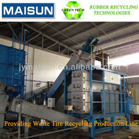 Waste Tyre Recycling Line Rubber Powder Crusher Whole Tire ...