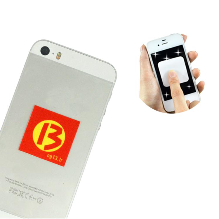 Microfiber Cloth Phone: Microfiber Stick Clean Mobile Phone Cloth Sticker