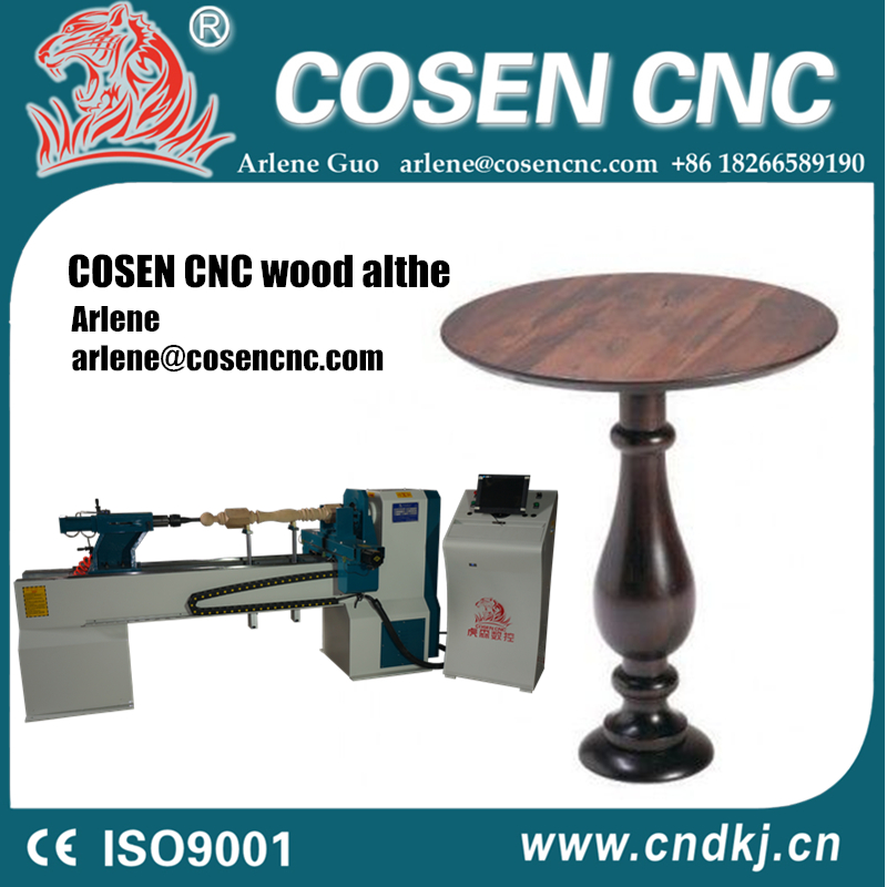 Economic Cnc Lathe Machine Price Wood Round Table Making From Cnc