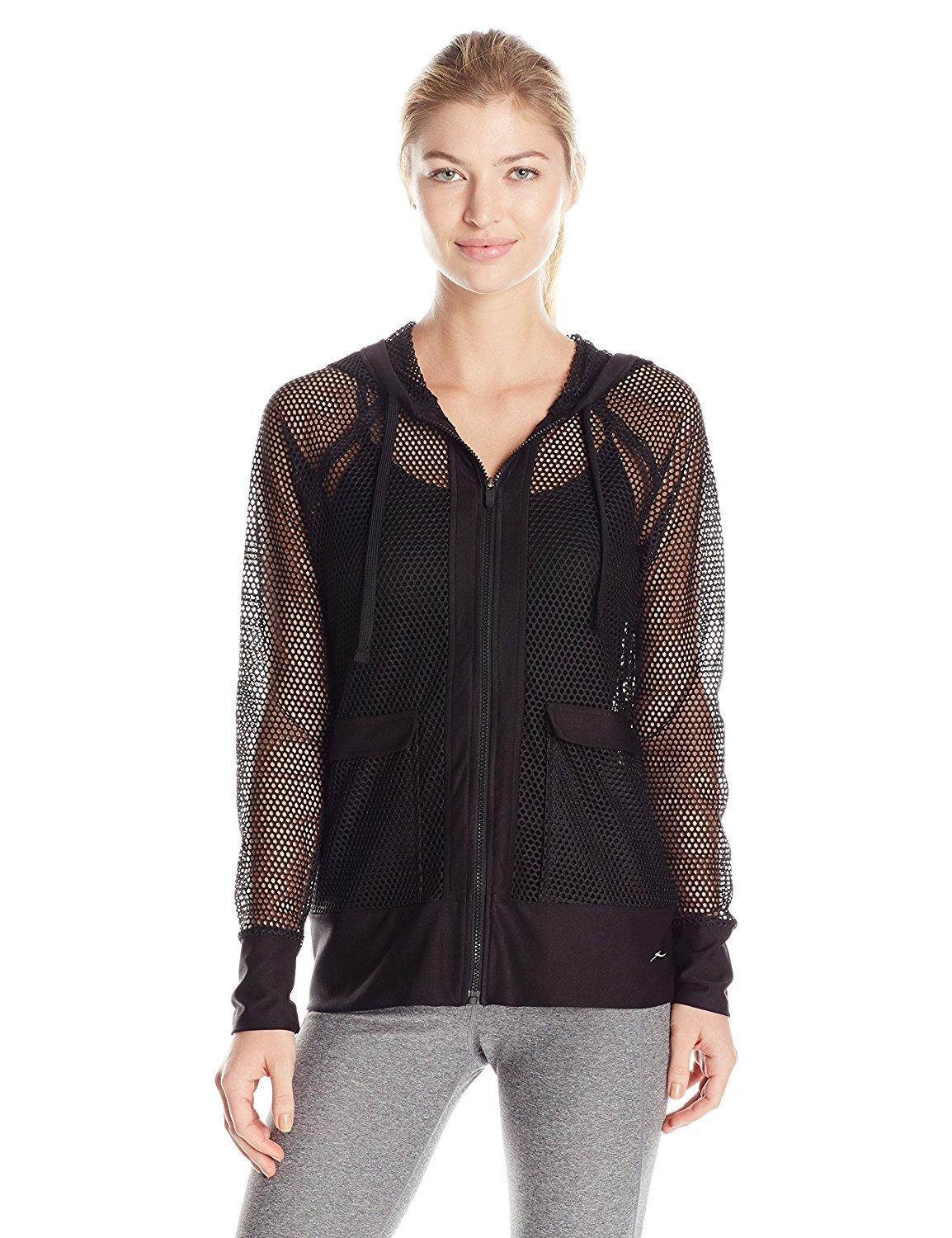 X by Gottex Women's Honeycomb Mesh Hoodie Jacket