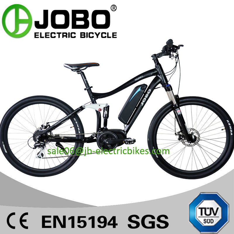 Torque Sensor MTB Ebike 27.5 Inch Mid Drive Motor Full Suspension Mountain Bike