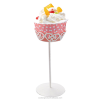 YZ1813 Metal Wire Cupcake Stand White Single Mini Cup Cake Holder