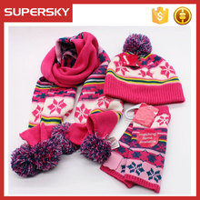 a11 girl cute scarf hat gloves sets cable knitted hat scarf gloves set kids hat scarf gloves set