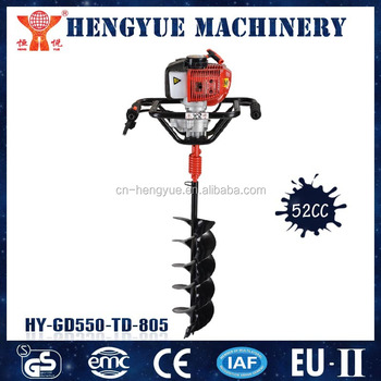 HY-GD52-25 gas powered post hole ground drill of garden digging machine