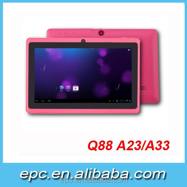 Big Promotion ! 7 inches Allwinner A33 Quad Core Android 4.4 WIFI Bluetooth very cheap android tablet pc Q88 Only $27