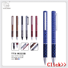 2018 High Quality Personalized creative pen clip multicolor leather pen