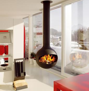 Golner Wood Stove Modern Wood Heater Hanging Wood Burning