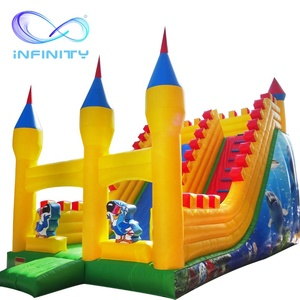Hot selling popular Inflatable castle and inflatable slides combos jumper for kids